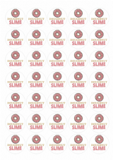 Slime Stickers - Doughnut Slime - 35 Matt Paper Stickers At 37mm